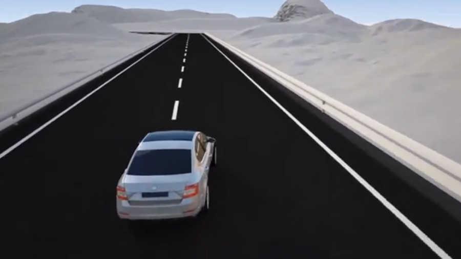 шкода октавия на дороге